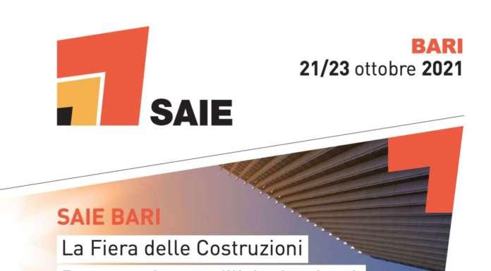 SAIE Bari, le date: dal 21 al 23 ottobre 2021